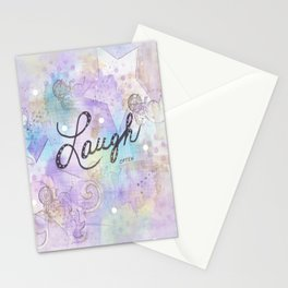 Mixed Media Laugh Stationery Cards