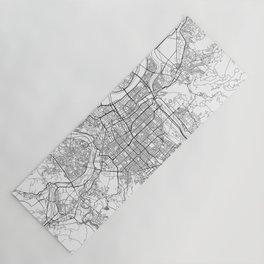 Taipei White Map Yoga Mat