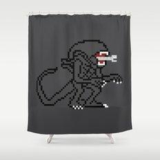 Alien Pixels Shower Curtain