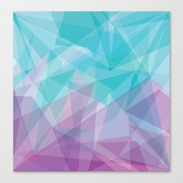Stained Glass - Blue Purple Canvas Print