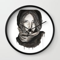 ice Wall Clocks featuring Ice by Kylerg