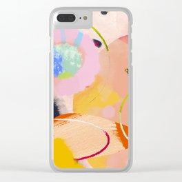 circles art abstract Clear iPhone Case