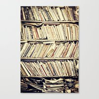 books Canvas Prints featuring books by PureVintageLove