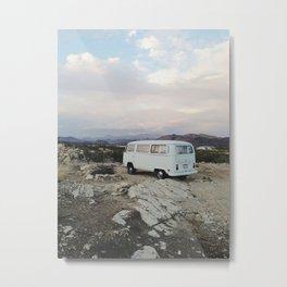 Desert Camper Bus Metal Print
