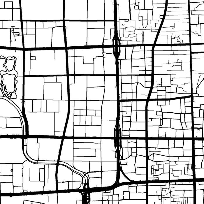 Beijing Map White Leggings
