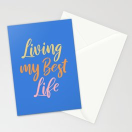 Living My Best Life Stationery Cards