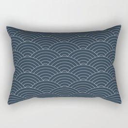 Waves (Annapolis Blue) Rectangular Pillow