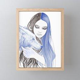 Blue Light Framed Mini Art Print