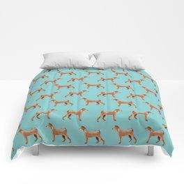 Irish Terrier dog breed pet pattern dog art pet friendly terriers portrait Comforters