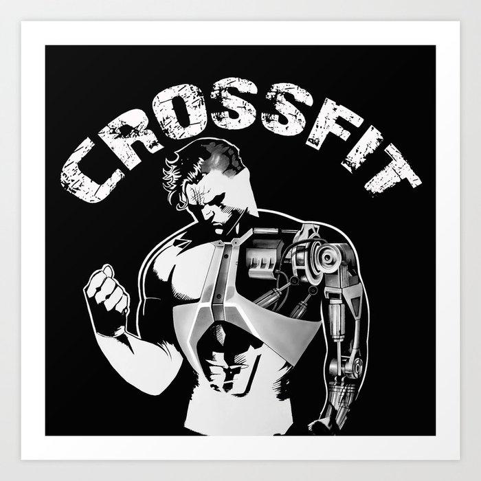 Crossfit Art Print By Linekristine