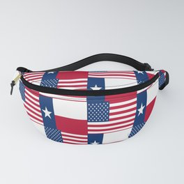 Mix of flag : Usa and Texas Fanny Pack