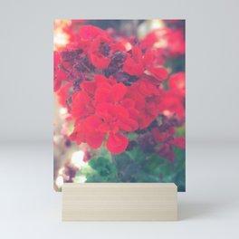Flores Rojas Mini Art Print