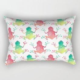 Watercolour Rainforest Frog Rectangular Pillow