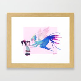 Someone's got a sweet tooth Framed Art Print