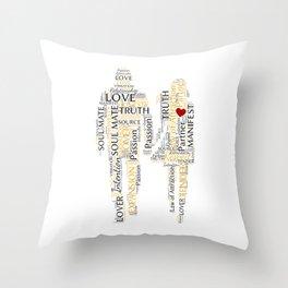 Soul Mate Word Art Throw Pillow