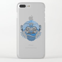Psychedelic Monkey Clear iPhone Case