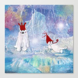 The Ice Party  Canvas Print
