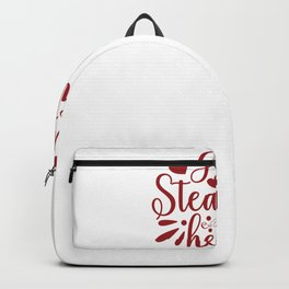 Valentine Typography Guilty of Stealing Hearts Backpack