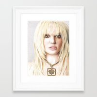 britney Framed Art Prints featuring Britney by LeonieMV