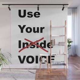 Use Your Voice Wall Mural