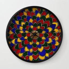 Madhubani Mandala Wall Clock