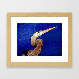 Heron 2 Framed Art Print