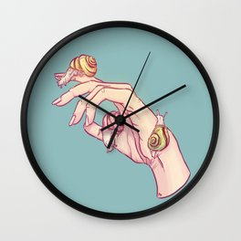 Hand Study No.1 // The Snails One Wall Clock