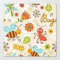 bugs Canvas Prints featuring Bugs by olillia