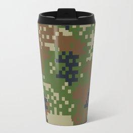 Pixel Woodland Camo Camouflage Pattern Travel Mug