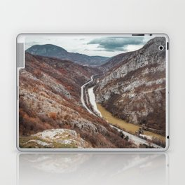 Beautiful picture of the canyon in Serbia, with river and the highway in the middle Laptop & iPad Skin