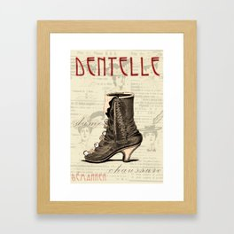Lace It Up Framed Art Print