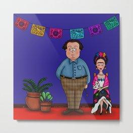 Diego y Frida (The Blue House) Metal Print
