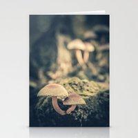 mushrooms Stationery Cards featuring mushrooms by Koka Koala