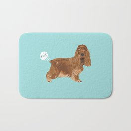 cocker spaniel funny farting dog breed gifts Bath Mat