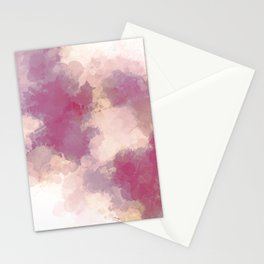 Mauve Dusk Abstract Cloud Design Stationery Cards
