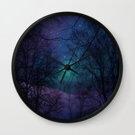Into the Dark Forest Wall Clock