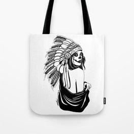 Native Skull Tote Bag