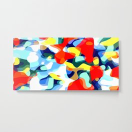 Abstract Avalanche Metal Print
