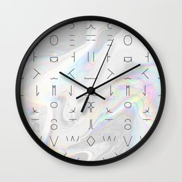 Minimal Alphabet Wall Clock