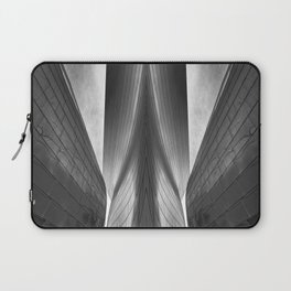Architectural abstract captured in black and white from low perspective rendering a dramatic view. Laptop Sleeve