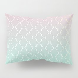 Moroccan pattern with mint, pink and gold Pillow Sham
