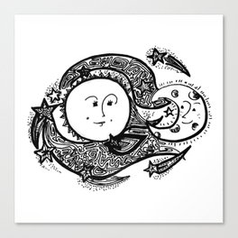 The Sun and Her Sunshine Canvas Print