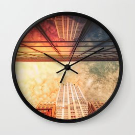 New York City Chrysler Building Up Up and Away Wall Clock