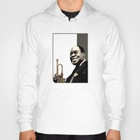 louis Hoodies featuring Louis Armstrong by f_e_l_i_x_x