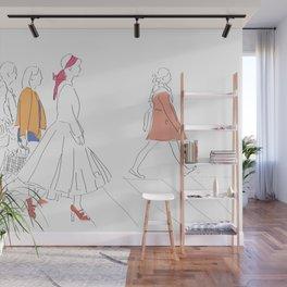 Parisian French Fashion Girls Wall Mural