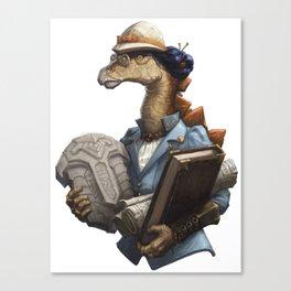 Archeology Stegosaurus Canvas Print