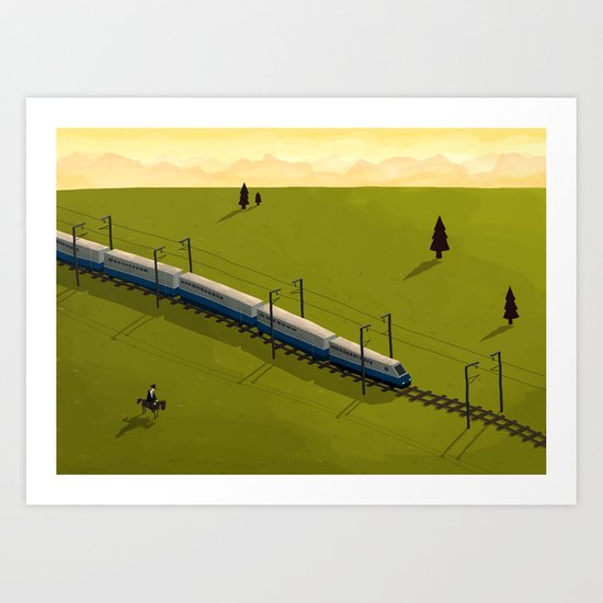The Assassination of Jesse James by the Coward TGV Art Print