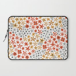 tiny tiny red gold and black flowers Laptop Sleeve