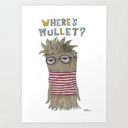 Where's Mullet? Art Print