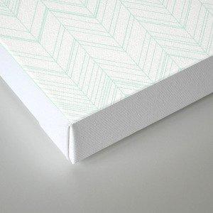 Abstract chevron pattern- light green Canvas Print